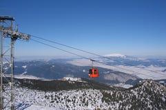 长平底船滑雪 免版税库存照片