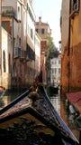 从长平底船的经典威尼斯 免版税库存图片