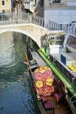 长平底船运河船 免版税库存图片