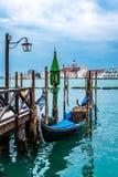 长平底船,圣Marco,威尼斯,意大利 库存照片