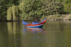 长平底船,威尼斯小船 免版税库存图片