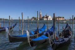 长平底船-圣乔治Maggiore -威尼斯-意大利 库存照片