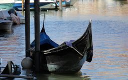 长平底船-威尼斯式小船 库存图片