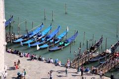 长平底船-威尼斯式小船 免版税库存照片