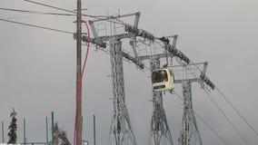 长平底船滑雪电缆车 股票视频