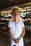 长收缩的卡扬Lahwi妇女 免版税库存照片