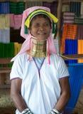 长收缩的卡扬Lahwi妇女 库存图片