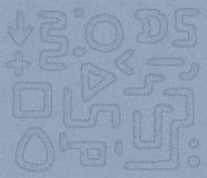 长方形、形状和箭头 库存图片