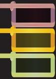长方形丝带页面设计的框架背景 免版税库存图片