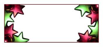 长方形圣诞节的框架 免版税库存图片