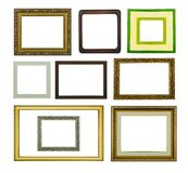 长方形宝石和画框在被隔绝的背景 免版税库存图片