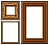 长方形宝石框架葡萄酒 免版税图库摄影