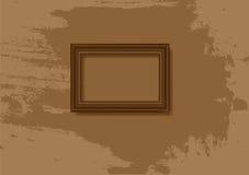 长方形宝石框架葡萄酒 图库摄影
