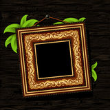 长方形宝石框架葡萄酒 库存照片