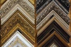 长方形宝石的样品在墙壁上的 库存照片