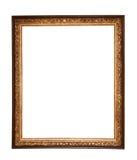 长方形木制框架 金博物馆框架 免版税库存图片