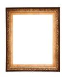 长方形木制框架 金博物馆框架 图库摄影