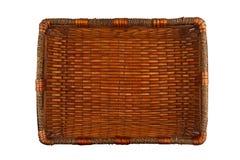 长方形木篮子 库存照片