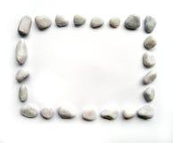 长方形框架的小卵石 免版税库存照片