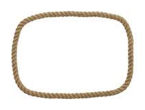 绳索长方形框架 库存照片