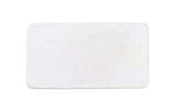 长方形白色木切板 库存图片