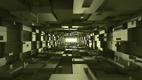 长方形真正隧道 库存照片