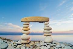 长方形石头 免版税库存照片