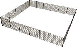 长方形篱芭 库存照片