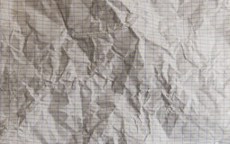 长方形被排行的便条纸被弄皱的纹理 库存图片