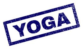 长方形难看的东西瑜伽邮票 库存图片
