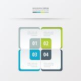 长方形介绍模板绿色,蓝色,灰色颜色 免版税库存图片