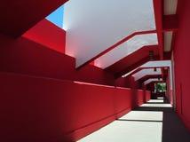 长期五颜六色的走廊 免版税库存照片