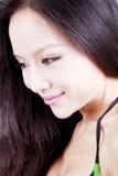 长期亚洲女孩头发 库存照片
