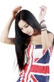 长期亚洲秀丽头发 图库摄影