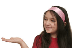 长期女孩头发好的视域 免版税库存图片