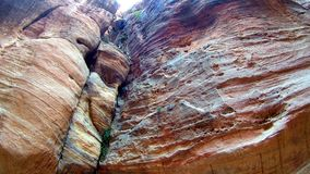 长期弯曲的黄色弯曲的狭窄的峡谷 免版税图库摄影