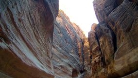长期弯曲的黄色弯曲的狭窄的峡谷 库存照片
