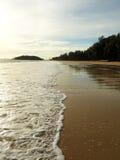 长期空的海岸 免版税库存照片