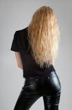 长期美丽的女孩头发 免版税图库摄影