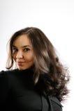 长期美丽的女孩头发 免版税库存图片