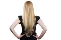 长期美丽的金发 免版税图库摄影