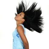 长期非洲秀丽头发 免版税库存照片