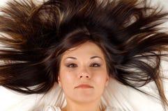 长期头发 免版税库存图片