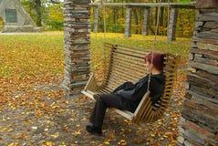 长木凳 免版税图库摄影