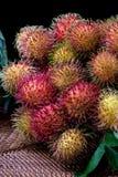 长毛的果子红毛丹印度尼西亚 库存图片