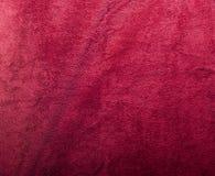 长毛绒红色纹理毛巾 免版税图库摄影