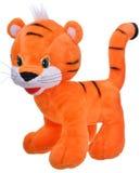 长毛绒橙色玩具老虎 免版税库存照片