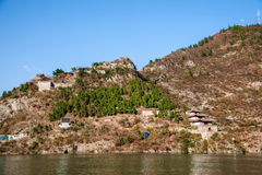 长江三峡瞿塘峡峡谷 免版税图库摄影