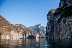 长江三峡瞿塘峡峡谷 免版税库存照片