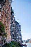 长江三峡瞿塘峡峭壁石头拷贝 免版税库存图片